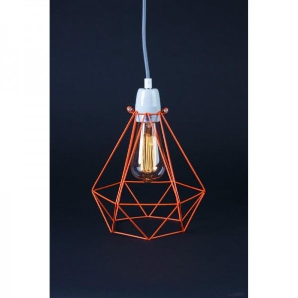 Lampe DIAMOND 1 - Orange - Filamentstyle
