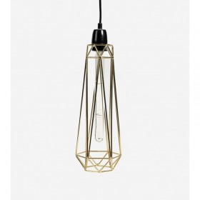 Lampe DIAMOND 2 - gold - Filamentstyle
