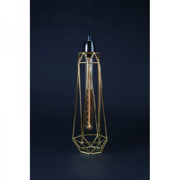 Lampe DIAMOND 2 - gold - Filamentstyle