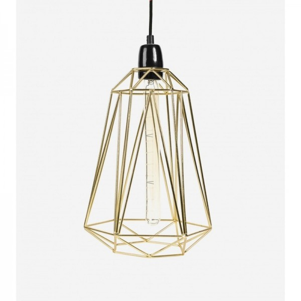 Lampe DIAMOND 5 - gold - Filamentstyle
