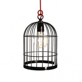 Lampe BIRD CAGE - noir brillant - Filamentsyle