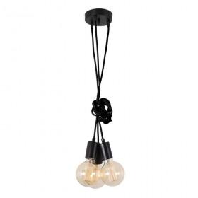 Suspension SPIDER - 3 globes - noir - Filament Style