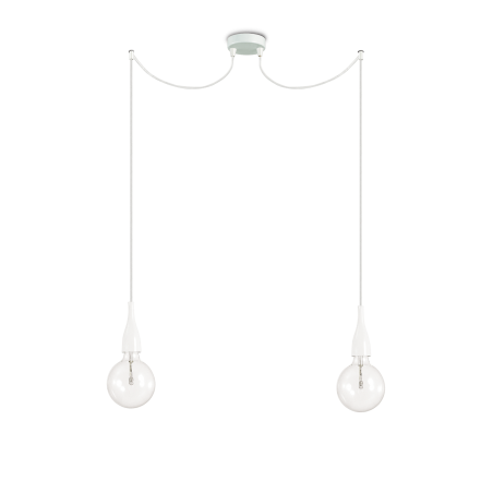 Suspension MINIMAL - Blanc - 2 x E27 - Ideal-Lux