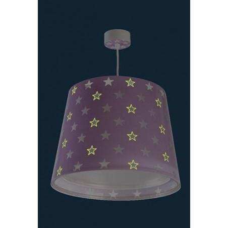 Suspension enfant STARS - violet - Ø33cm - Dalber