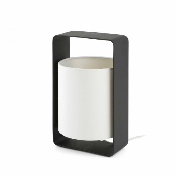 Lampe à poser - LULA - H27cm - noir/blanc - Faro