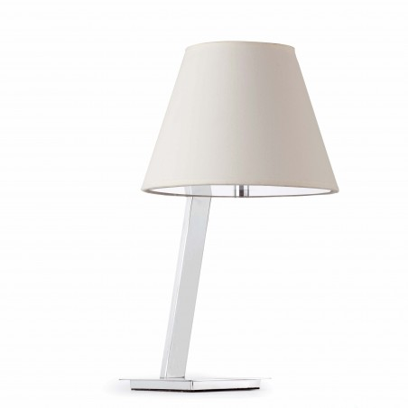 Lampe de table MOMA - blanc - H44cm - Faro