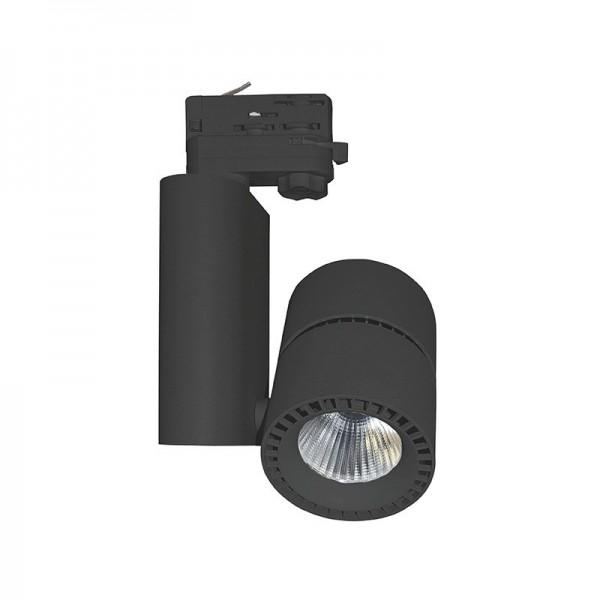 Spot LED sur Rail 40W - 4000°K - noir - Vision El