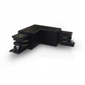 Connecteur coude L pour rail triphasé - noir - Vision El