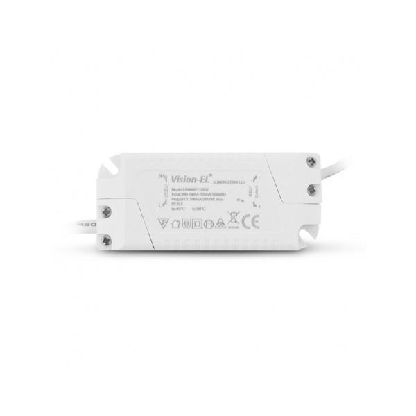 Encastré LED rond - Ø120  - 6W - 3000°K - alu blanc - Vision El