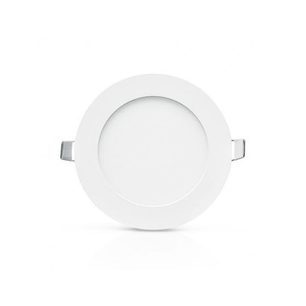 Encastré LED rond - Ø120  - 6W - 4000°K - alu blanc - Vision El