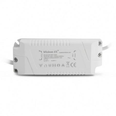 Encastré LED rond - Ø225  - 18W - 3000°K - alu blanc - Vision El