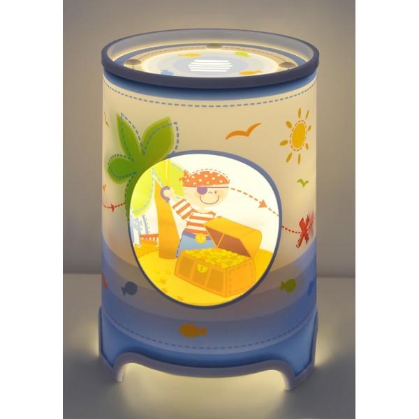 Lampe enfant PIRATES - LED - H29 cm - Dalber