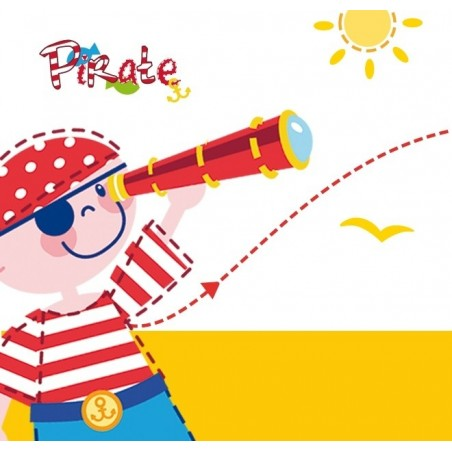 Lampe enfant PIRATES - LED - H29 cm - Dalber