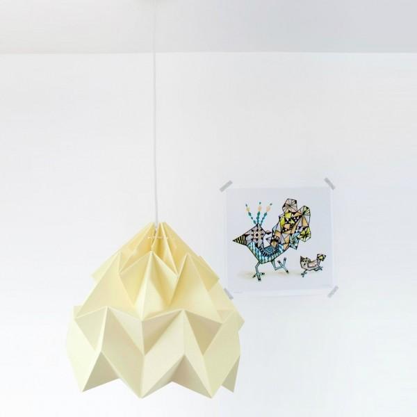 Suspension Moth XL - jaune - Ø40cm - Studio Snowpuppe