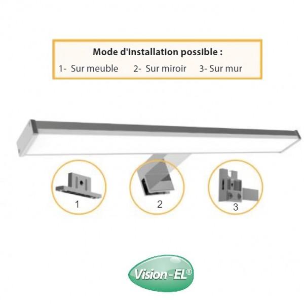 Applique LED salle de bain miroir 40 cm - 8W 3000K - Vision-el