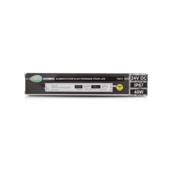 Alimentation LED - 40W - 24V DC - IP67 - Vision-el