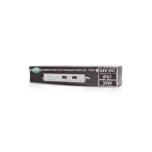 Alimentation LED - 30W - 24V DC - IP67 - Vision-el
