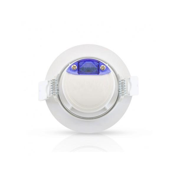 Spot LED encastrable 7W - 3000K - orientable - blanc - Vision-el