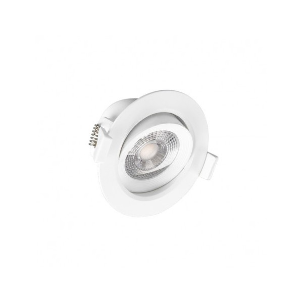 Spot LED encastrable 7W - 4000K - orientable - blanc - Vision-el