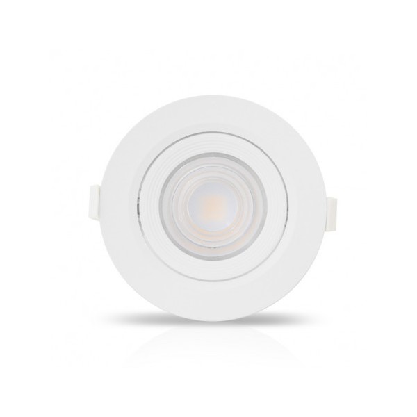 Spot LED SMD encastrable 18W 3000K - orientable - blanc - Vision-el