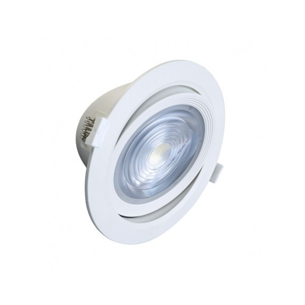 Spot LED SMD encastrable 18W 4000K - orientable - blanc - Vision-el